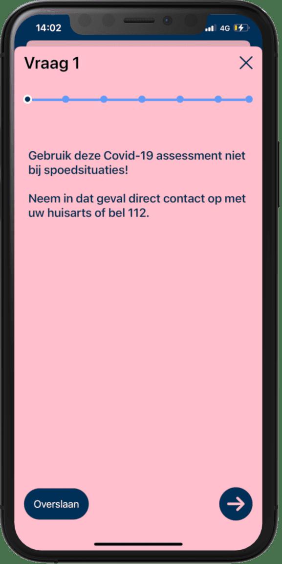 Coronavirus-medxpert-app-voorbeeld-vraag-1
